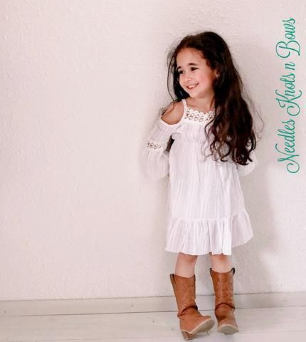 2d2570c13292 Girls White Over the Shoulder Bohemian Style Dress, Toddlers, Girls Boho Summer  Dress, Beach Dress, Wedding, Flower Girl Dress, Sizes 1, 2, 3, 4, 5, 6, 7, 8  ...