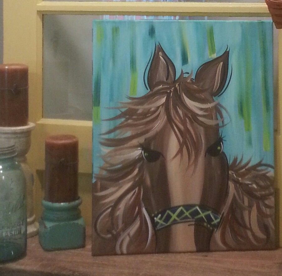 Whimzical Horse...I Party For a Living! Paint Party Fun!! | ~CaNvAs ...