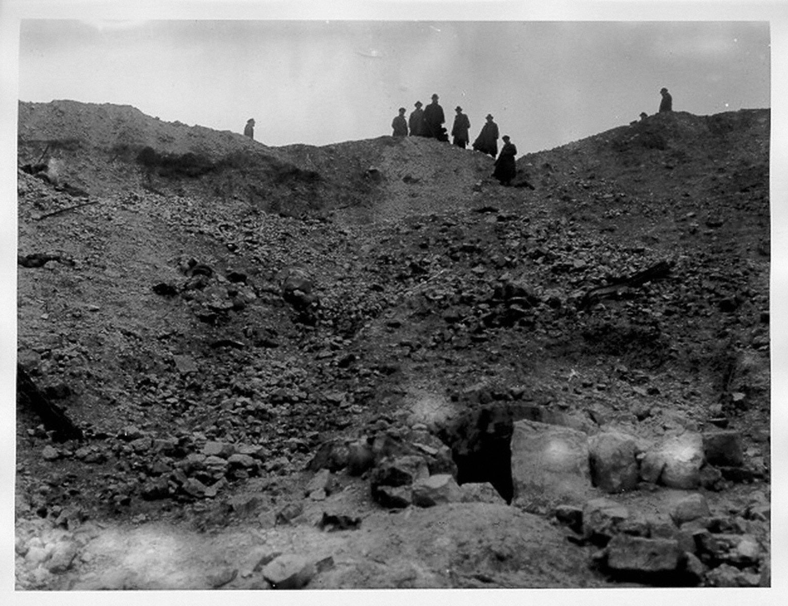 On the lip of the mine crater, 23rd October 1916, La Boiselle, France. The Battle of the Somme 1 July-18 November 1916   First World War Poetry Digital Archive
