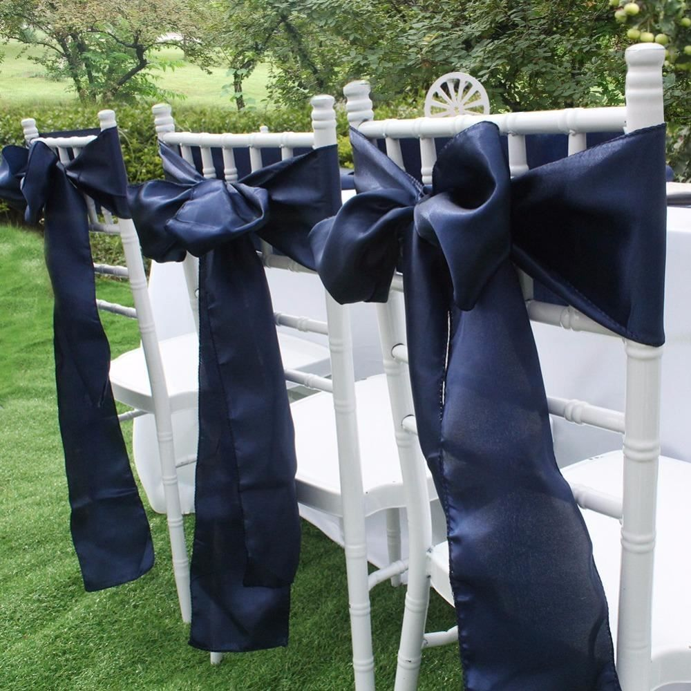 Incredible 5 95 Stunning Large Navy Blue Satin Sashes Chair Cover Download Free Architecture Designs Scobabritishbridgeorg