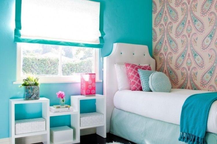 Décorer les murs d\u0027une peinture turquoise - 38 idées d\u0027été
