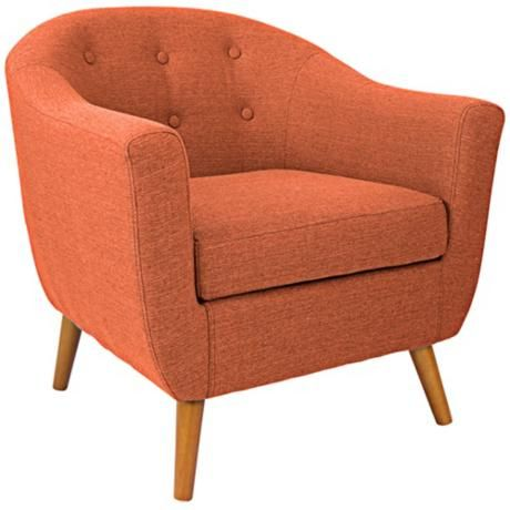 Rockwell Orange Upholstered Accent Chair