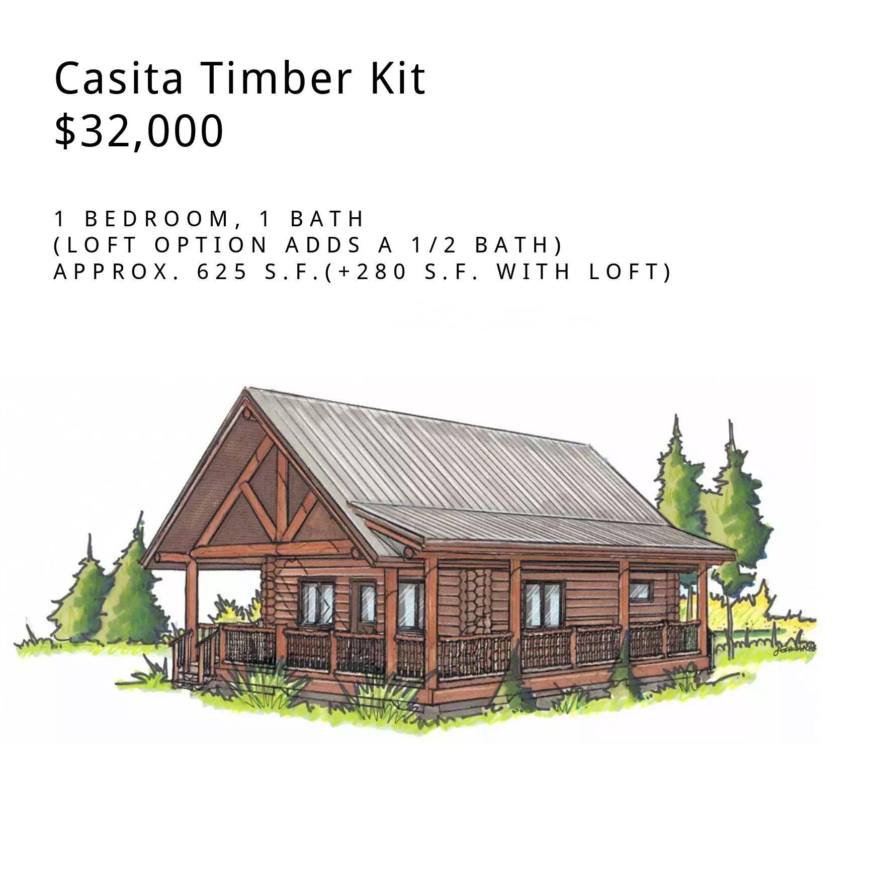 Customizable Log Cabin Kit The Casita Colorado And New Mexico Log Home Kits Log Homes Log Cabin Kits