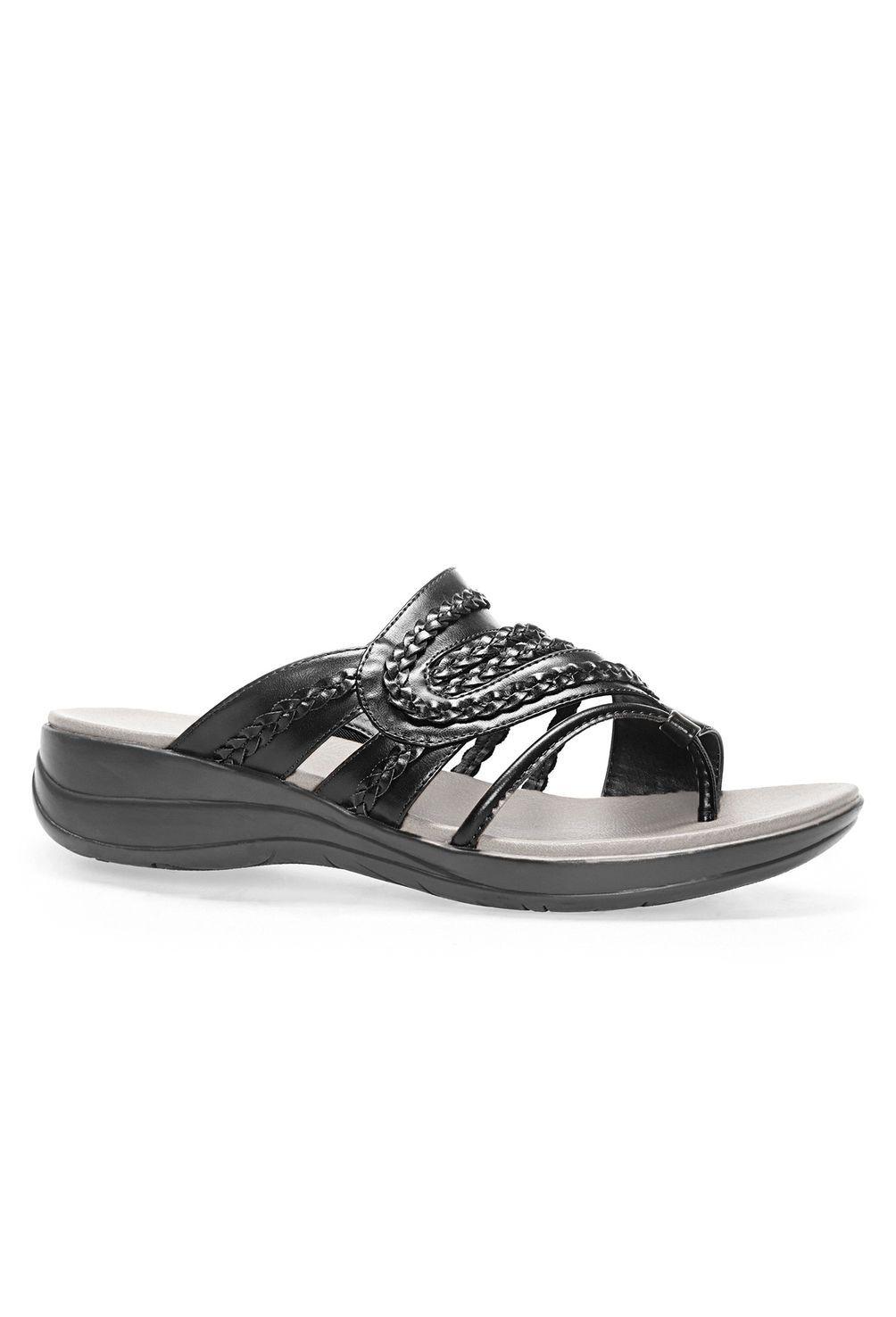 24d5744771a3 Jayda Braided Cloudwalkers® Comfort Sandal-Wide Width Sandal-Avenue ...