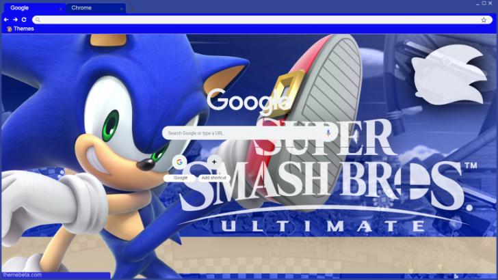 Sonic The Hedgehog Super Smash Bros Ultimo Tema De Chrome Themebeta Super Smash Bros Smash Bros Theme