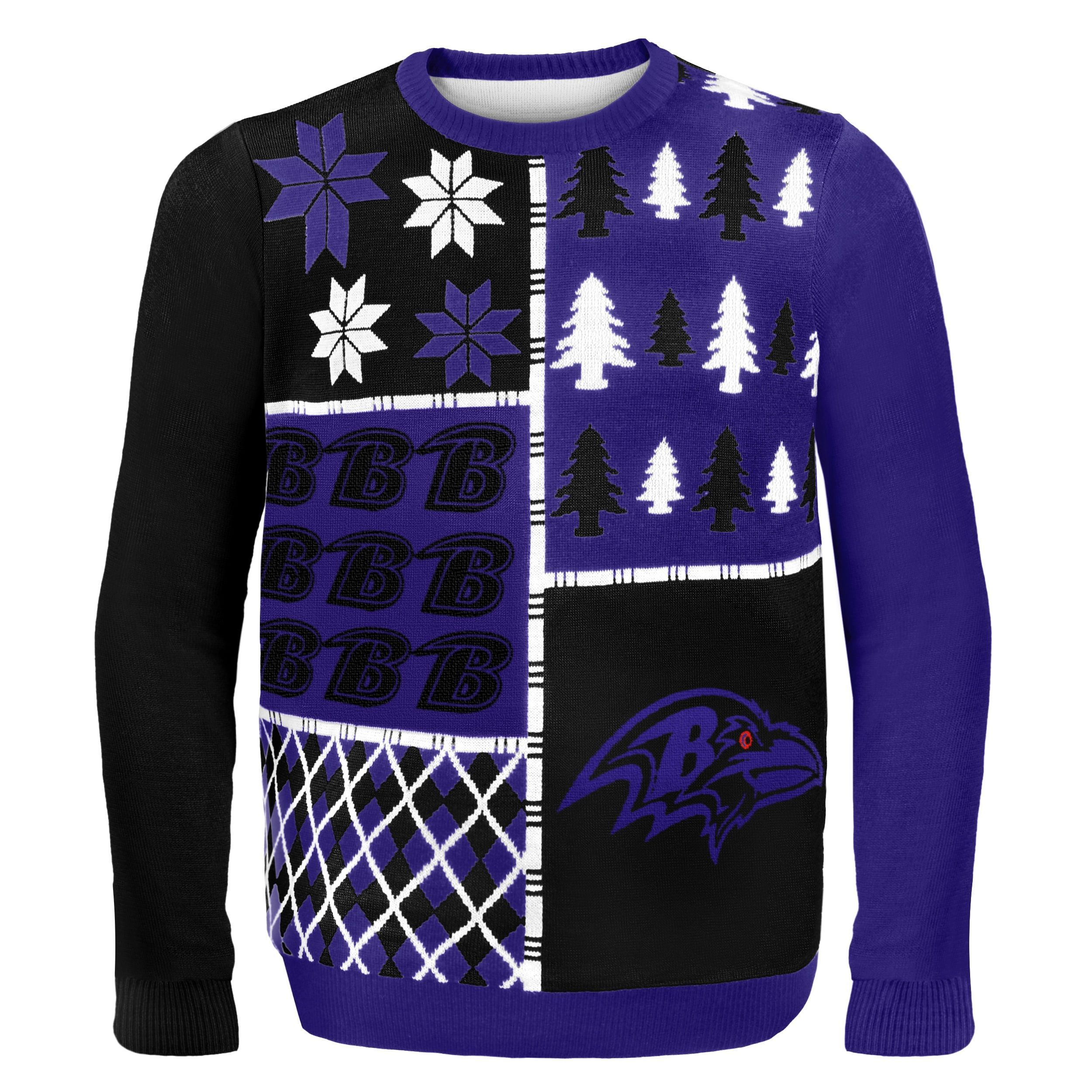 Baltimore Ravens Busy Block Ugly Sweater by Forever Collectibles ...