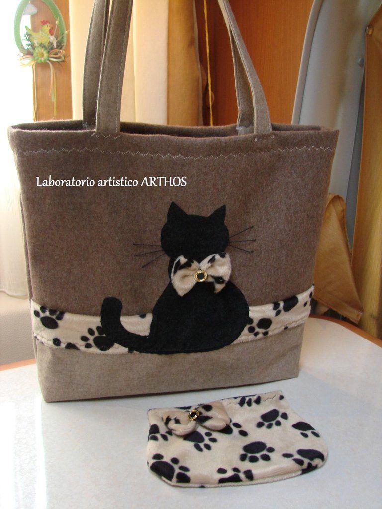 42c5affac8 Risultati immagini per borsa gatti | borse | Patchwork bags, Denim ...