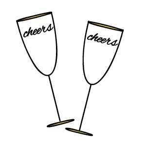 free new years champagne glass clipart new years eve pinterest rh pinterest com champagne clipart no background champagne bubbles clipart