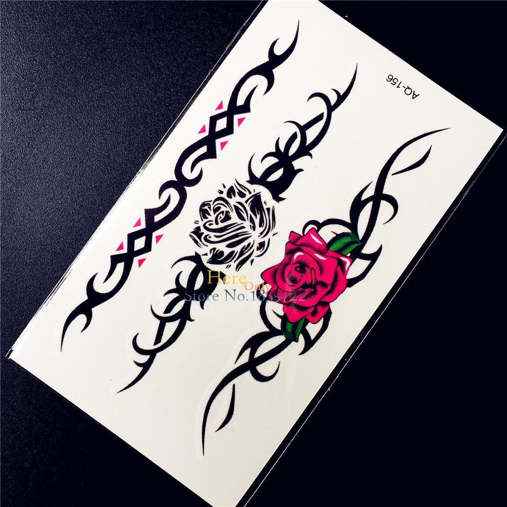 Black henna temporary disposable tattoo sticker lace