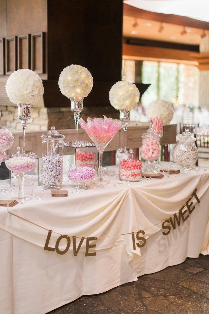 romantic california wedding with pastel blooms wedding ideas rh pinterest com wedding candy buffet bags wedding candy buffet pictures