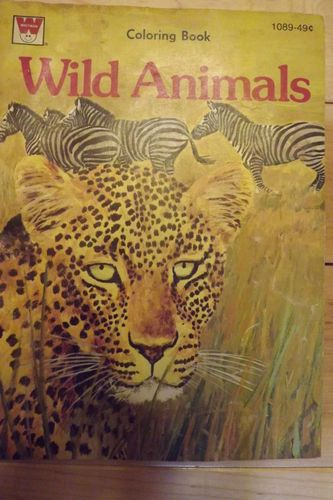 Vintage 1974 Whitman Wild Animals Coloring Book