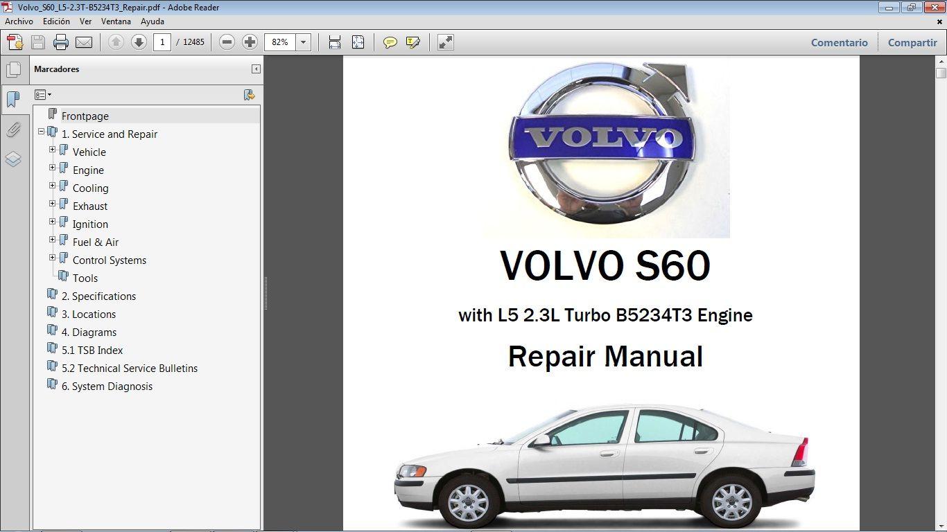 Volvo S60 2 3t Workshop Repair Manual Manual De Taller Volvo S60 Volvo Repair Manuals