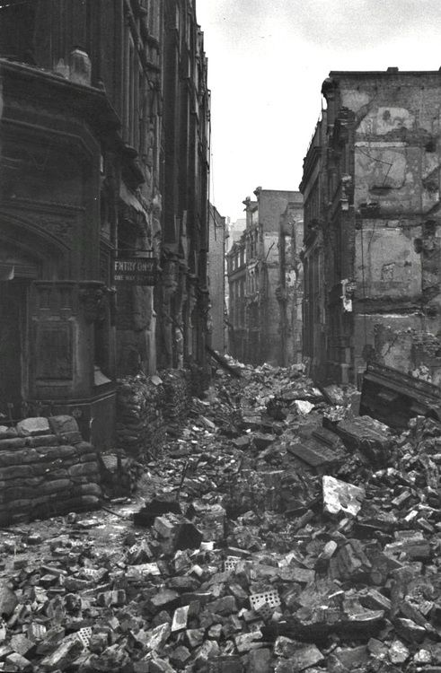 The Streets Of A Ruined London After The Blitz 1940 World War