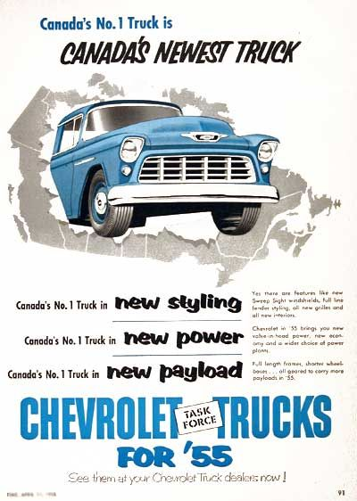 1955 chevrolet pickup trucks original vintage advertisement canada s no 1 truck is canada s newest truck chevrolet pickup pickup trucks vintage pickup trucks 1955 chevrolet pickup trucks original
