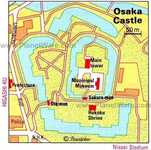 Osaka Castle Floor plan map Osaka Pinterest Osaka Osaka