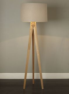 bhs illuminate zach tripod floor lamp carved wooden tripod