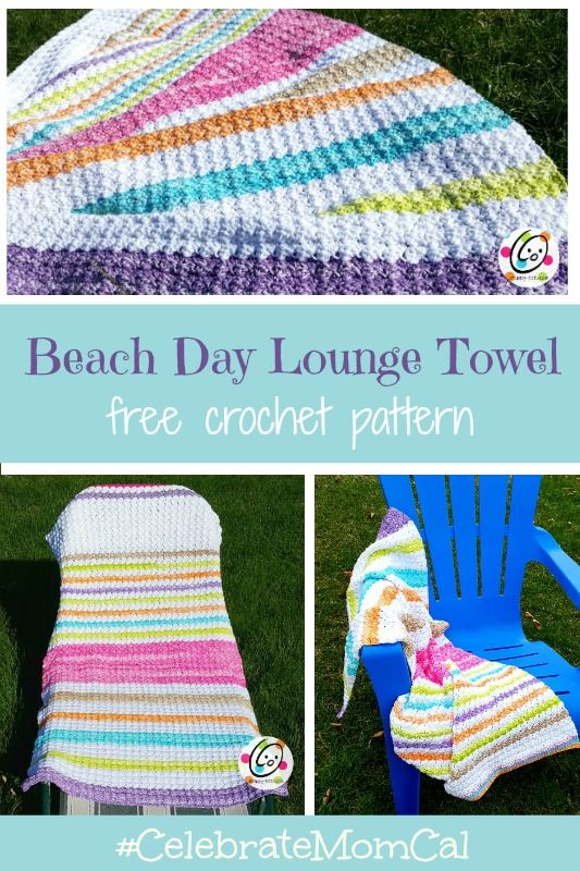 Free Pattern Beach Day Lounge Towel Pinterest Towels Yarns And