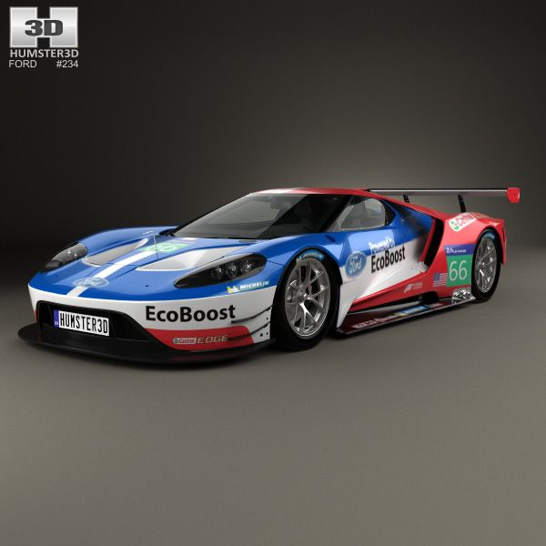 3d Model Of Ford Gt Le Mans Race Car 2016 Ford Gt Le Mans Ford