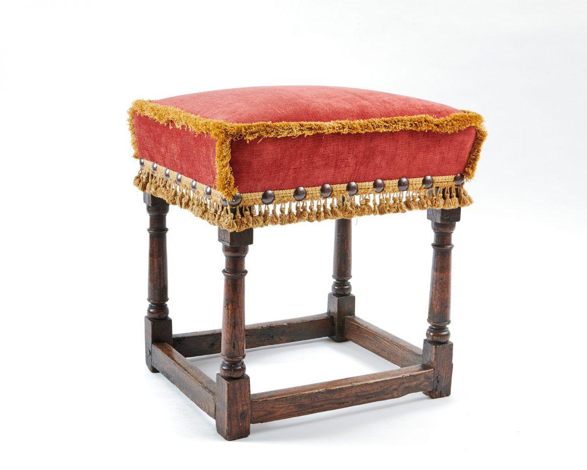 Charles Ii Upholstered Stool Upholstered Stool Stool Antiques