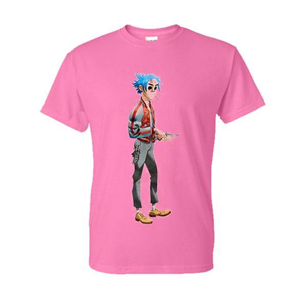 Gorillaz Pink Tshirt T Shirt Gorillaz Pink Tshirt