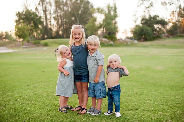 Photographing children. Mt. Woodson Golf Course Family Session, Ramona Wedding Photographer @PAIGEOVERTURF