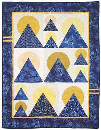 mountain quilt block pattern | Moon over mountain quilt pattern ... : mountain quilts - Adamdwight.com