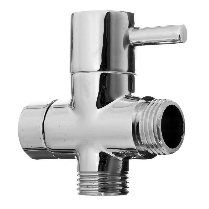 3 Way Plating Diverter Tap Valve Tap Valve Shower Diverter