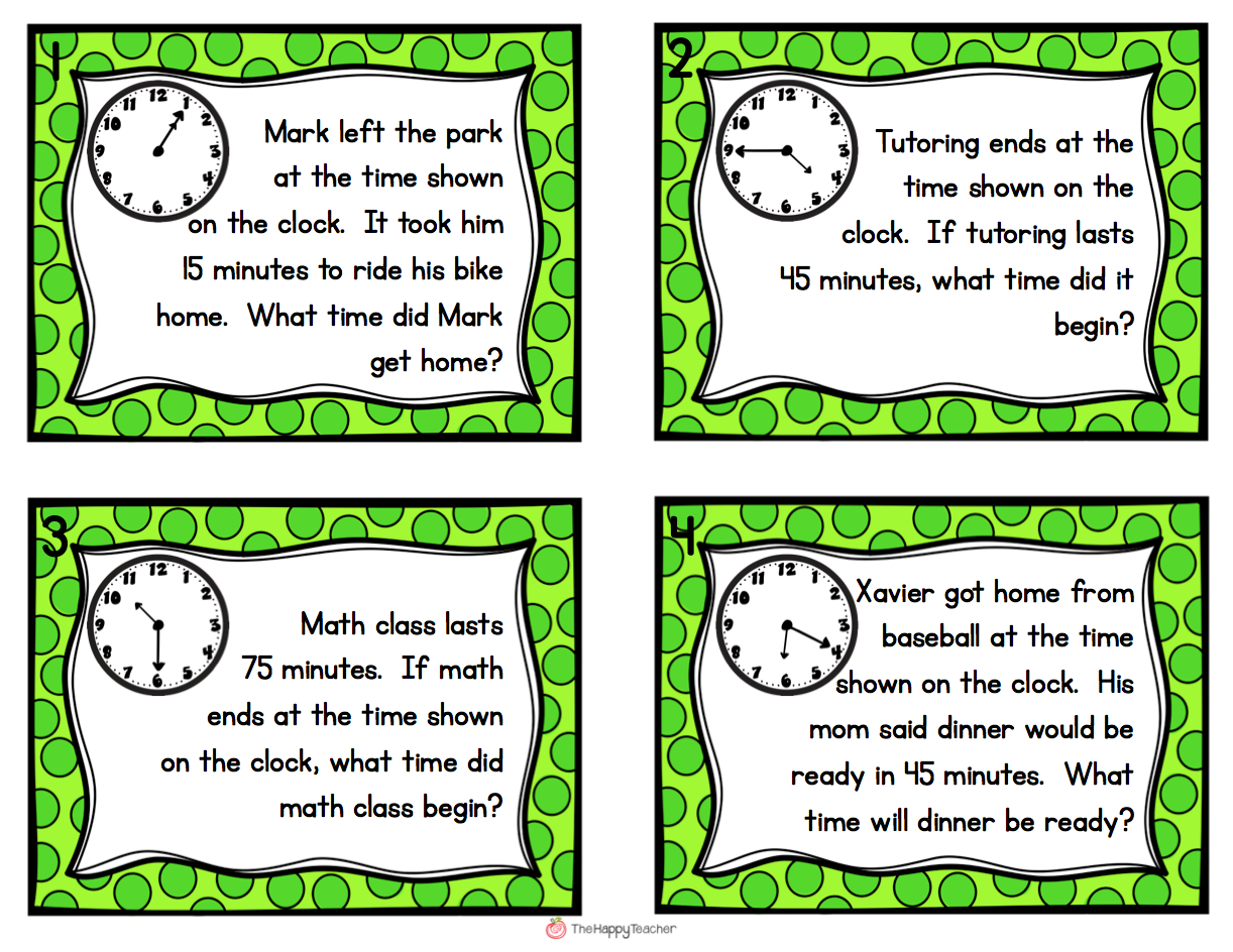 Worksheets Elapsed Time Word Problems Worksheets back to school communication meet the teacher fourthgradefriends elapsed time task cards get students up and moving with these word problems