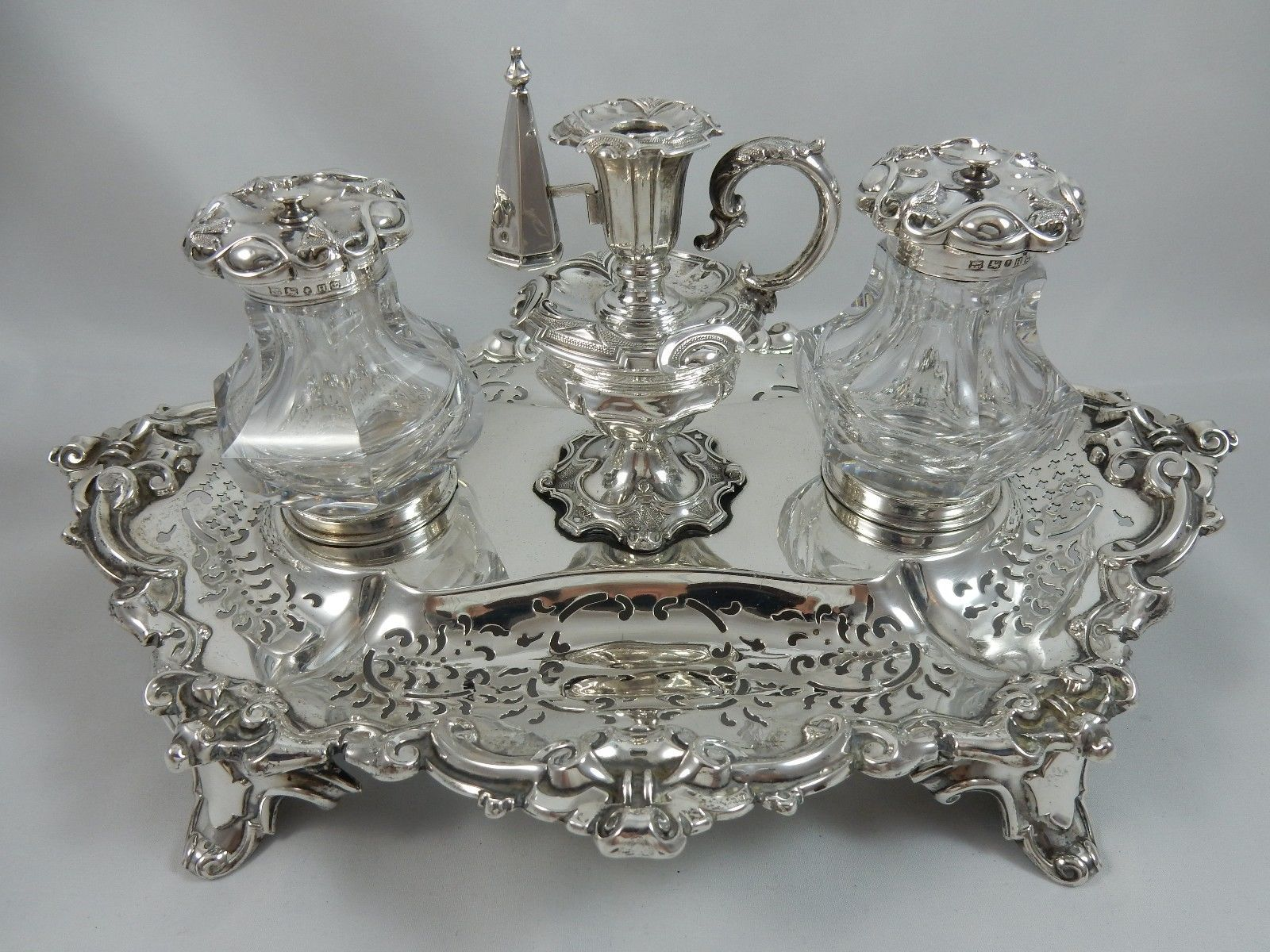 MAGNIFICENT VICTORIAN silver INK WELL 1851 1324gm https://t.co/M00ntxqWBq https://t.co/2UJ9l8YHo3