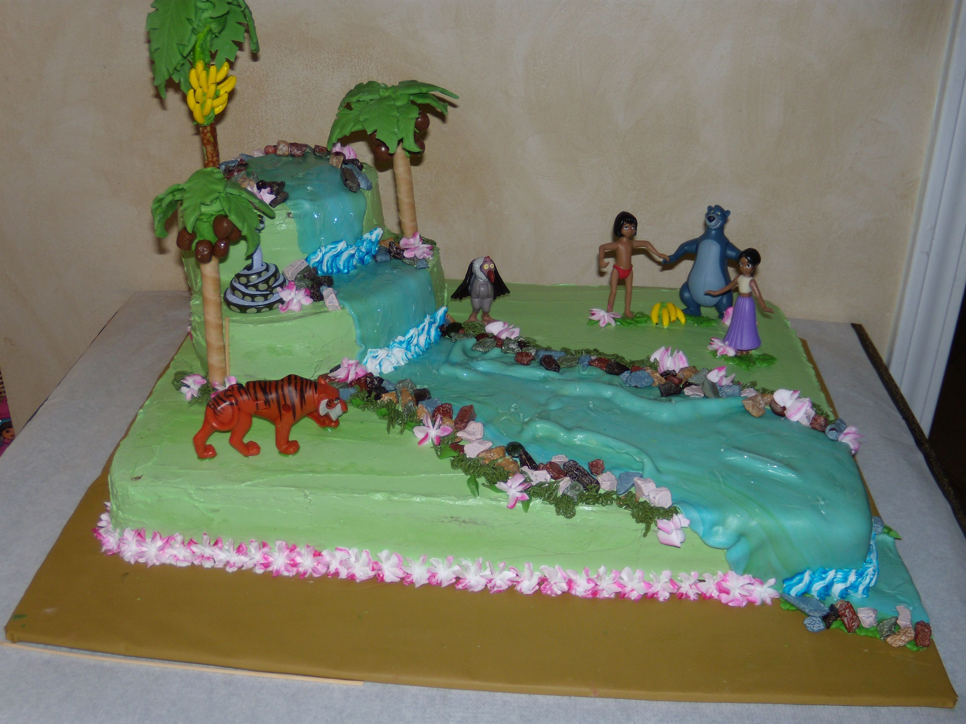 Jungle Book Cake With Images Jungle Book Cake Book Cakes