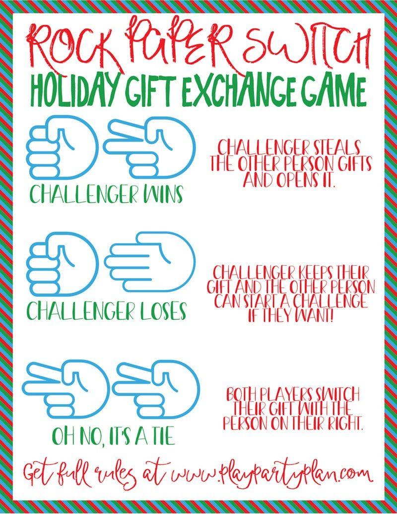 Rock Paper Scissors Switch Gift Exchange Game Gift Exchange Games Christmas Gift Exchange Party Christmas Gift Exchange Games