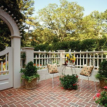 Charming Fencing Around The Patio | Creating Privacy And Enclosure With Your Patio