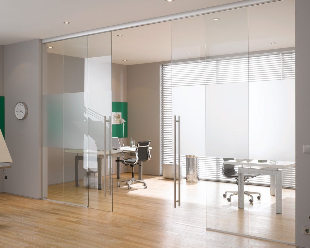 Interior glass door in office sliding glass door design for Office glass door entrance designs