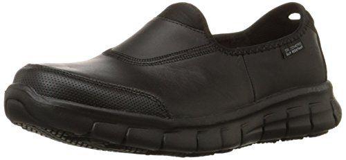Slip Resistant Slip On Work Shoe
