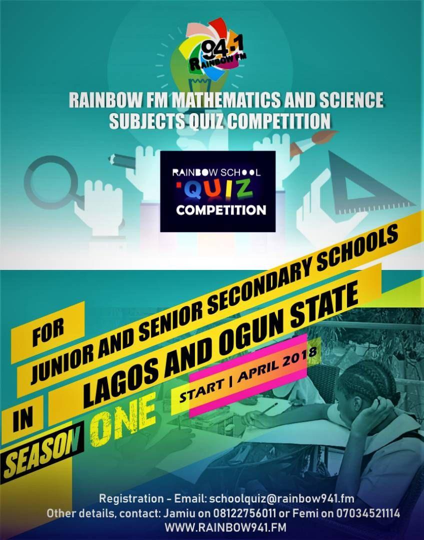 Rainbow941 Fm Mathematics Science Quiz Competition Science Quiz School Quiz Mathematics