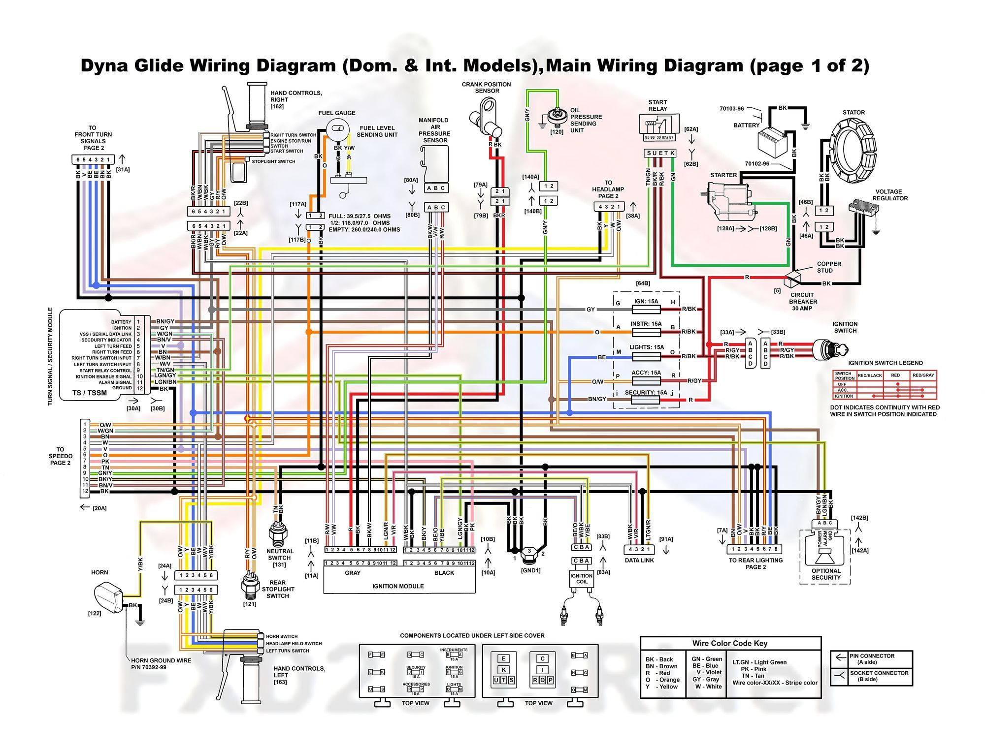harley davidson police wiring diagram and wite pinterest