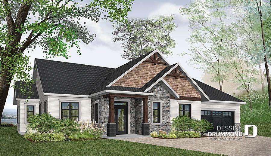 Plan de maison unifamiliale Providence 3 (W3284-CJG1) Dessins