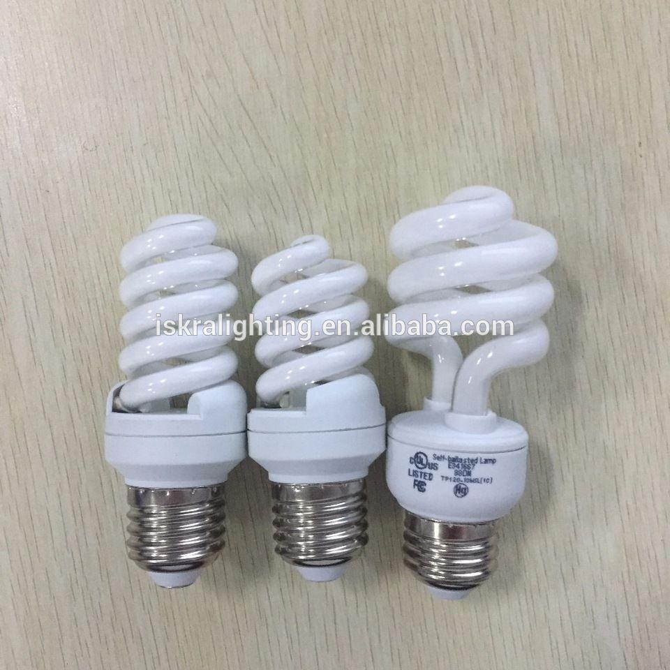 9w T2 Full Spiral Energy Saving Lamp Cfl E27 110 130v 220 240v Factory Price