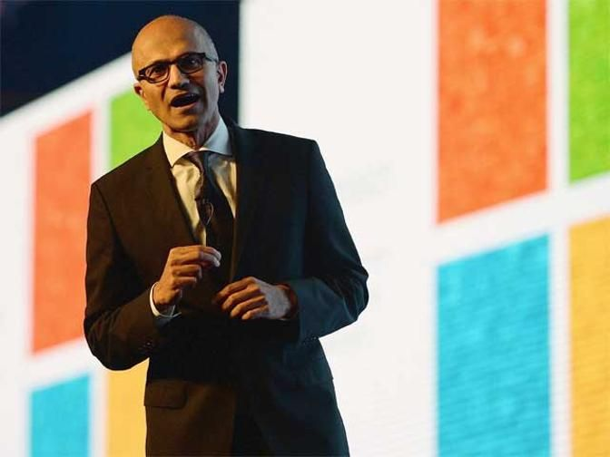 Satya Nadella pitches for poor, unveils tech for semi-skilled - The Economic Times