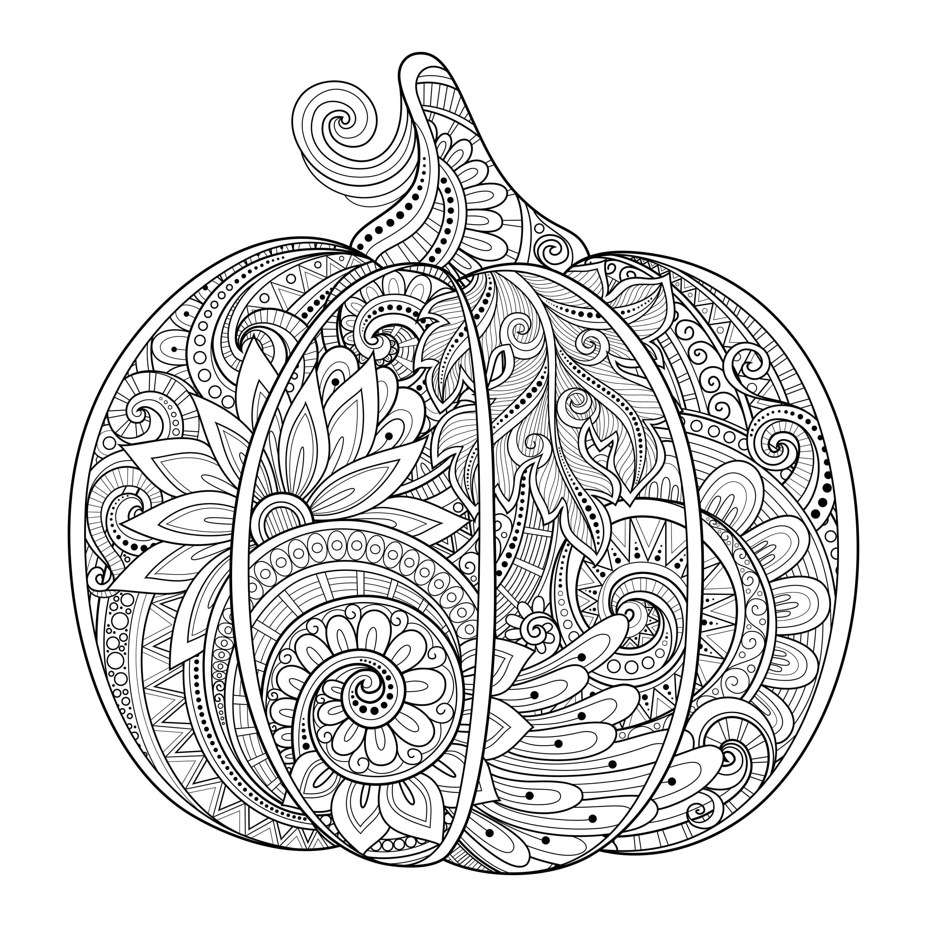 Pumpkin Coloring Sheets 9ncm Halloween Pumpkin Zentangle Source 123rf Irinarivoruchk Pumpkin Coloring Pages Halloween Coloring Book Thanksgiving Coloring Pages