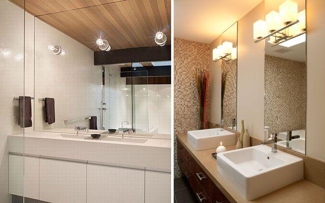 C mo iluminar el cuarto de ba o que buena pregunta futura casa pinterest ba os - Iluminacion espejos bano ...