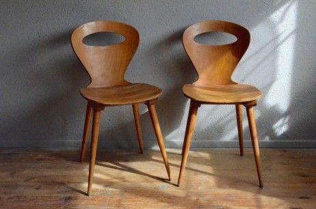 Chaises Fourmi L Atelier Belle Lurette Renovation De Meubles Vintage Chaise Fourmi Chaise Chaises Baumann