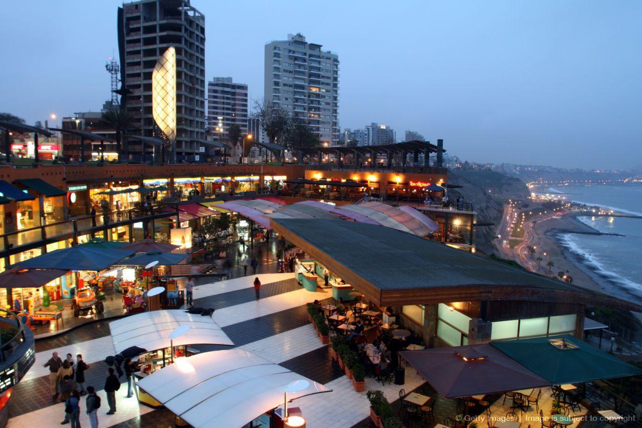 Larcomar mall in Miraflores, Lima.   Lima, Peru   Peru ...