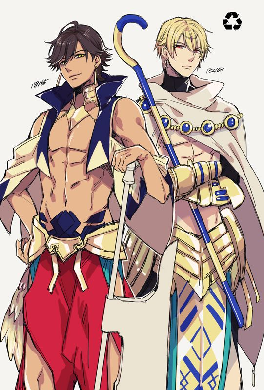 Fate Ozymandias Rider And Gilgamesh Caster Swap Cloths