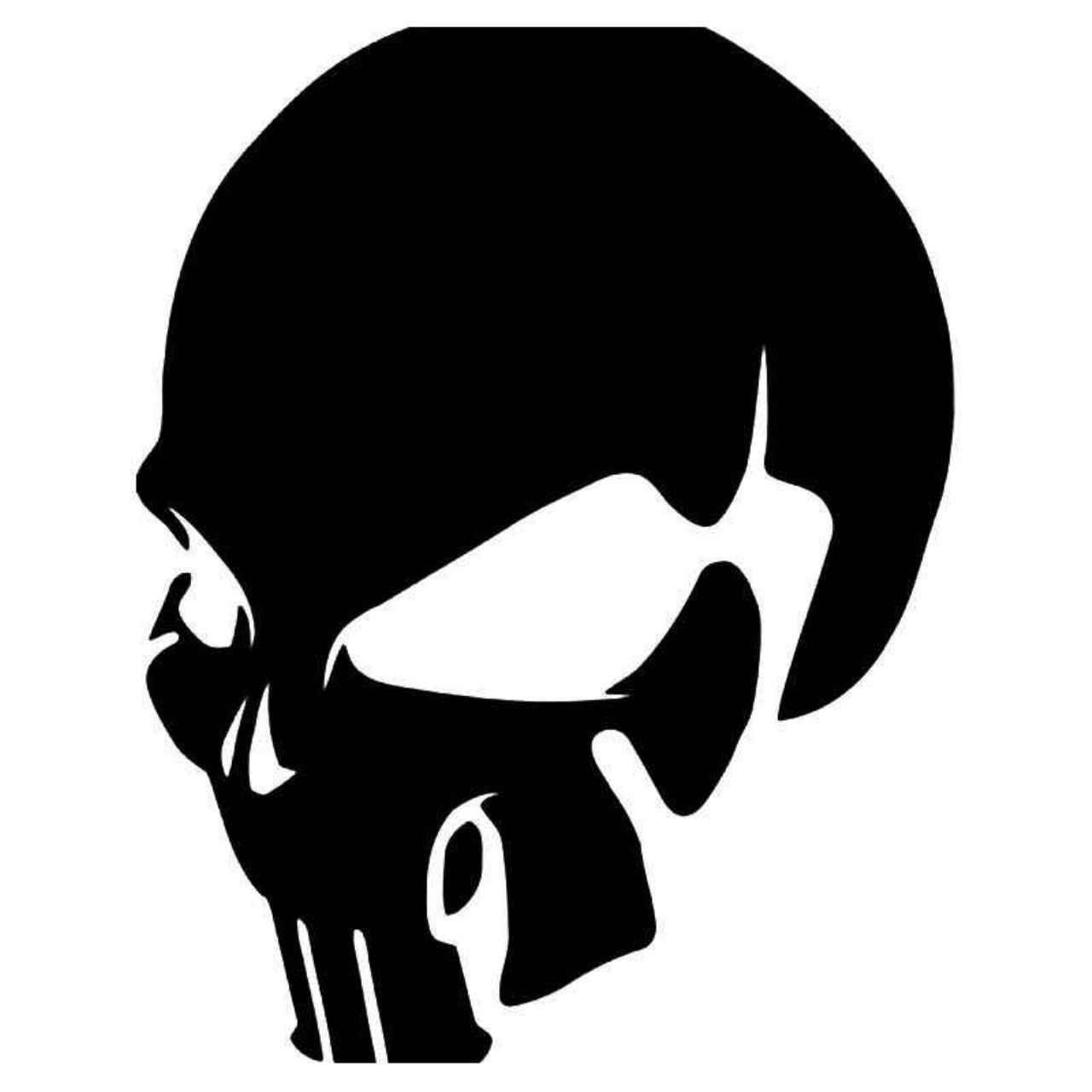 1x The PUNISHER Skull Head Pattern Comic Car Window Bumper Sticker Decal Decor