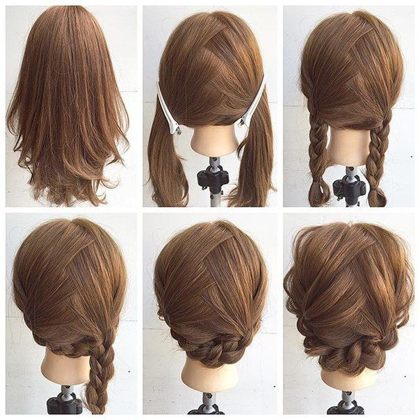 Easy Hairstyles For Medium Length Hair Simple Ideas And Decor  Peinados  Pinterest  Hair Style Updos And Makeup