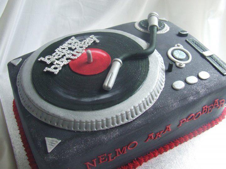 Perfect for Damon Cakes Pinterest Birthday cakes Cake and Dj cake