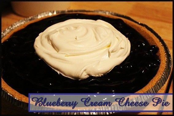 Blueberry Cream Cheese Pie http://www.momspantrykitchen.com/blueberry-cream-cheese-pie.html