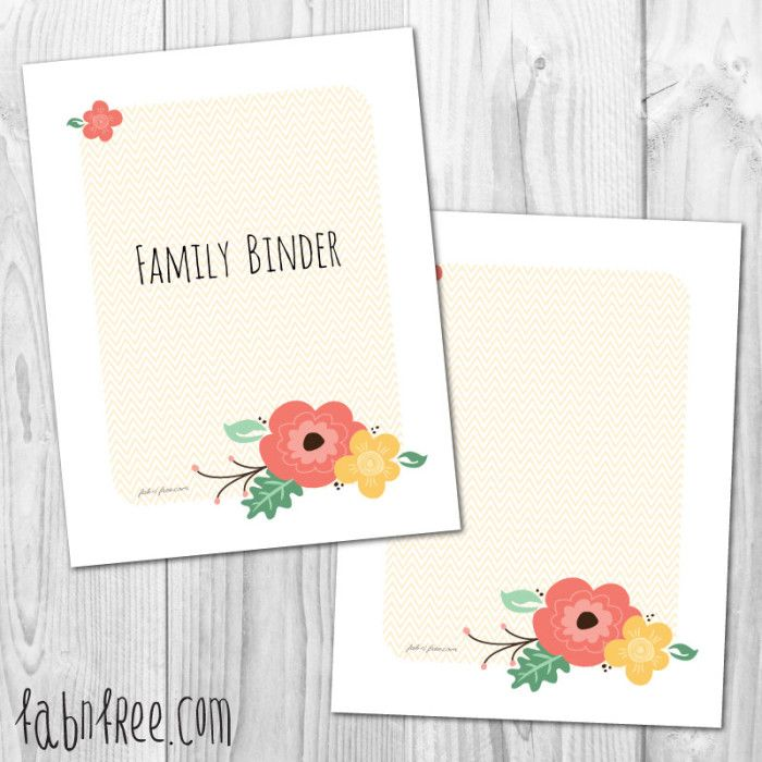 Free Printable Home Management Binder Cover and Blank Cover ...