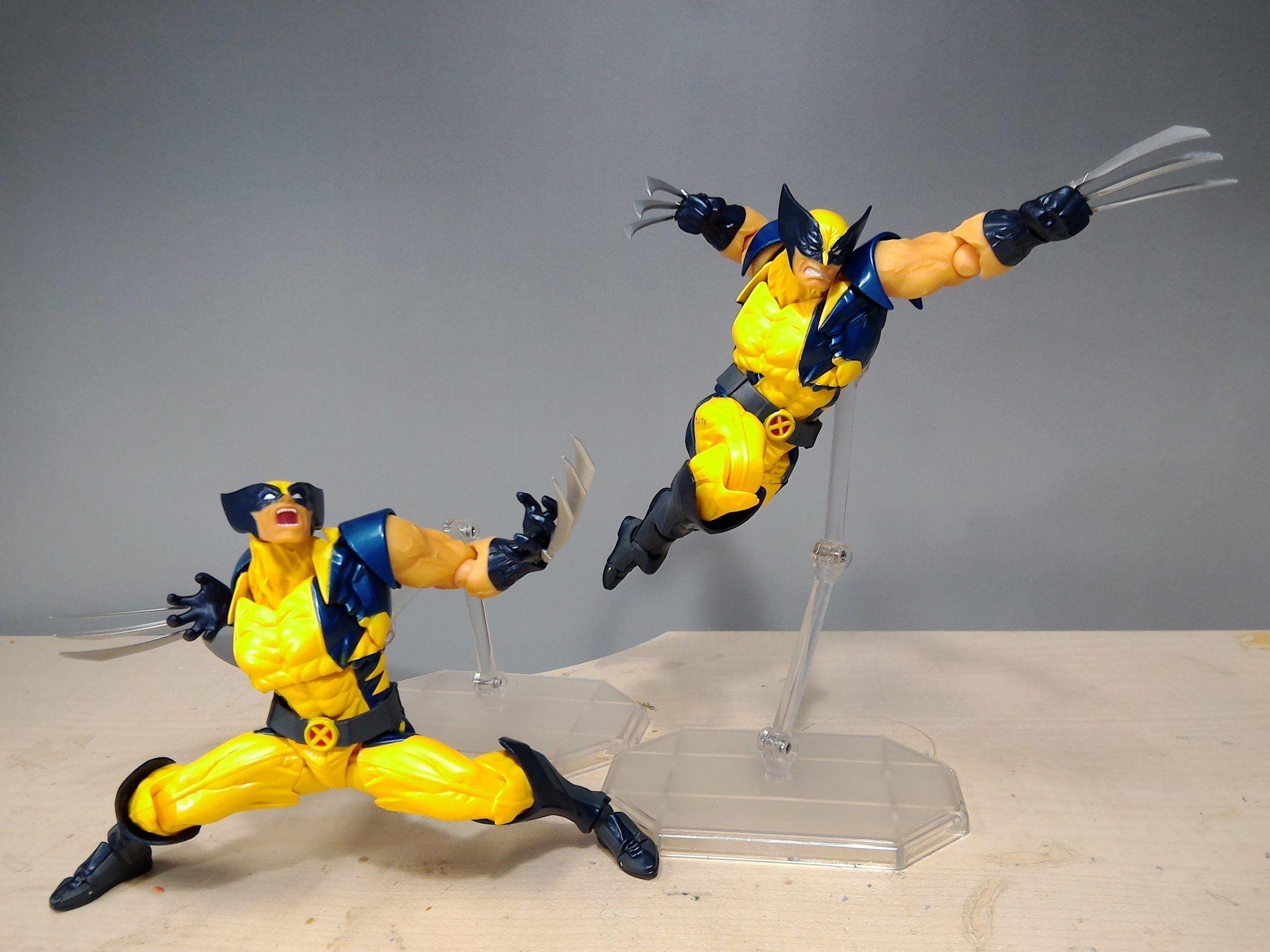 Kaiyodo Revoltech Amazing Yamaguchi Wolverine X-Men Action Figure Spielzeug
